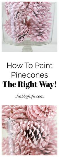 Secrets To Painting Pinecones For Christmas The Right Way