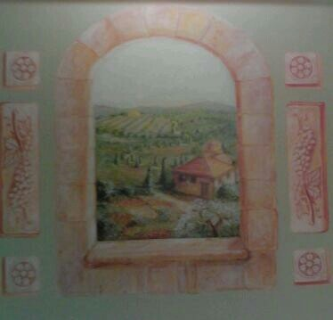 Decorating Kitchen on Tuscan Wall Mural For Kitchen   Decorating