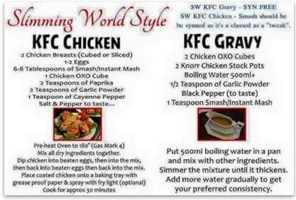 Slimming World Recipe swap and low Syn ideas