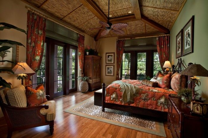 Tommy Bahama Bedroom Sets Tropical Bedroom with Wood Floor