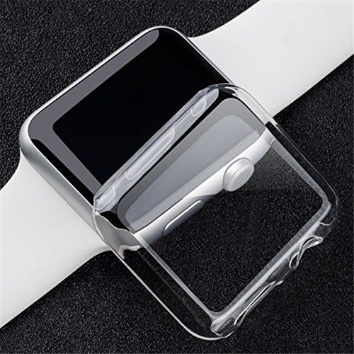 Transparent Clear Slim Hard Snap On Case Cover Screen Protector For 38/42mm Apple Watch Series 2. Features: *Super thin, transparent and light weight. *Touch screen usable, for your watch to create a fashion style. *Prevent your watch from scratches, bumps, grease and fingerprints, etc. *Presice cutouts, provides easy access to all functions without having to remove the case. Specification: Material: PC (Polycarbonate) Color: Clear Size: 38mm, 42mm Compatible With: For Apple Watch Series…