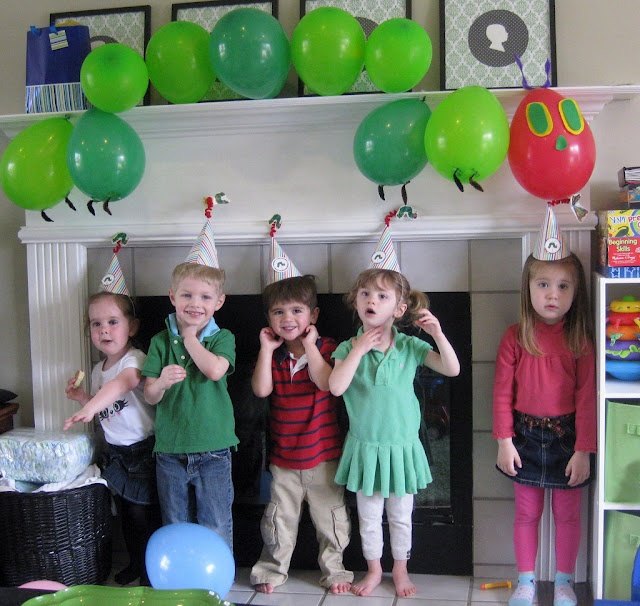 very hungry caterpillar balloons