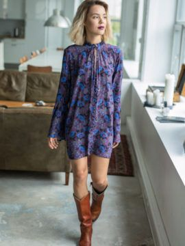 Free People Magic Mystery Tunic #dress #lavender #tunic #outfit #style #boots #freepeople