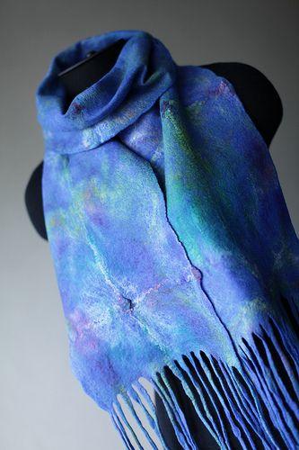 Felted Scarf | merino silk hankies | Marina Shkolnik | Flickr