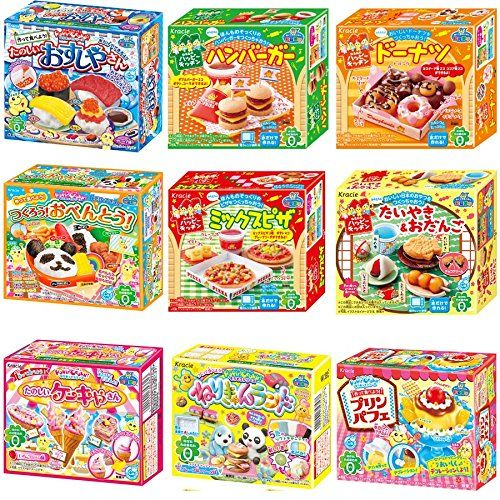Kracie Popin Cookin BoX 9 Item Bundle with Sushi Hamburger Bento Taiyaki Cake Shop and More *** Click on the image for additional details.Note:It is affiliate link to Amazon.