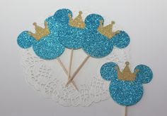 A personal favorite from my Etsy shop https://www.etsy.com/listing/259582683/royal-mickey-mouse-cupcake-topper