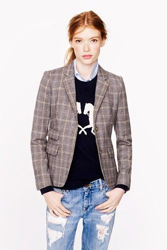 Sharpen Your Silhouette With These 10 Perfectly Tailored J.Crew Blazers #refinery29  http://www.refinery29.com/2013/08/51487/jcrew-blazers#slide-7  J.Crew Schoolboy Blazer in English Tweed, $238, available at J.Crew....
