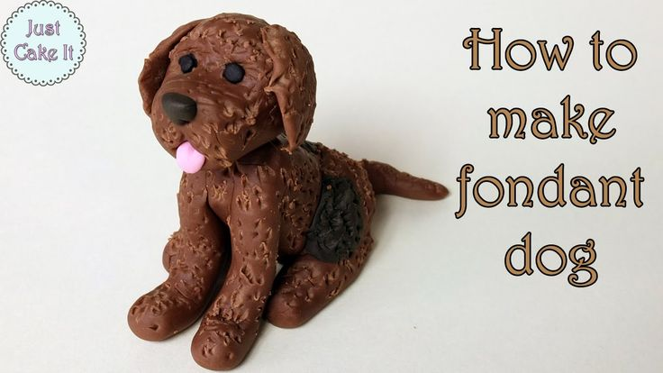 How to make fondant dog cake topper / Jak zrobić psa z masy cukrowej