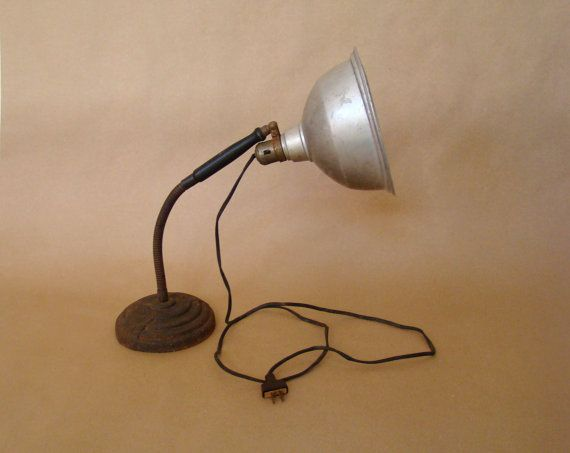 industrial lamp adjustable art deco work lamp vintage work lamp gooseneck lamp nightstand