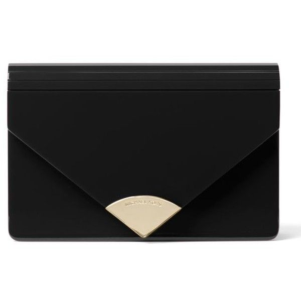 Michael Michael Kors  Barbara Medium Envelope Clutch ($198) ❤ liked on Polyvore featuring bags, handbags, clutches, purses, black, michael michael kors purse, man bag, hand bags, handbag purse and handbags clutches