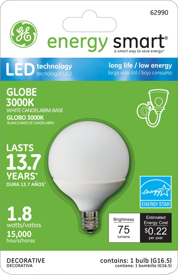 ge energy smart 10w replacement 18w globe g165 led bulb