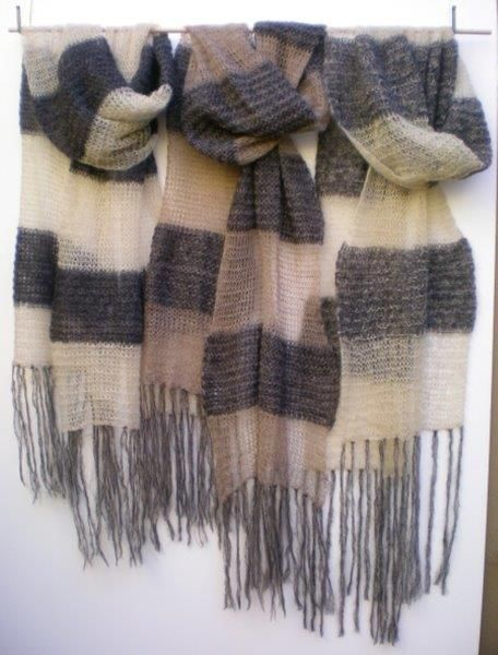 Charcoals solid sheer scarves by MK
