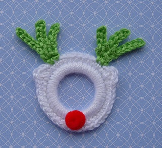 Rudolph the Red Nose Ring Ornament. I would use brown instead of white