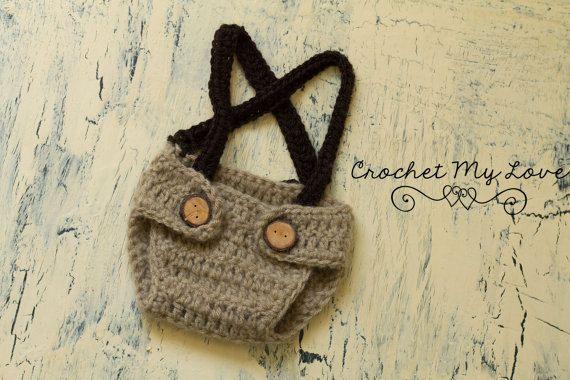 CROCHET PATTERN two tone criss cross suspenders by CrochetMyLove, $3.50