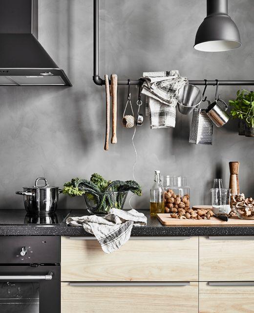 Ikea deutschland säljan arbeitsplatte mit blankett griff aluminium küche arbeitsplatte