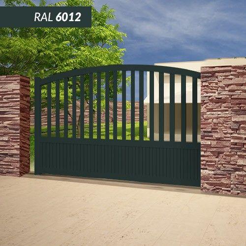 Portail EMALU PHILIPPINES COULISSANT - fabrication 100% aluminium. Une gamme de couleurs disponible BLANC - GRIS ANTHRACITE - BLEU - BORDEAUX - VERT - NOIR