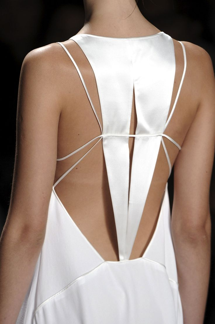 unexpected, clean, modern lines on this daring wedding dress