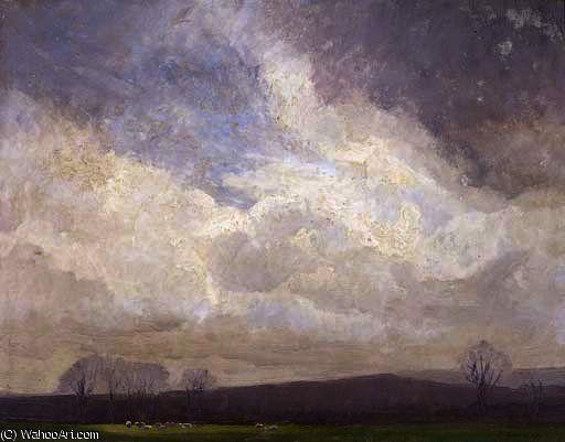 Moody temps de Elioth Gruner (1882-1939, New Zealand)