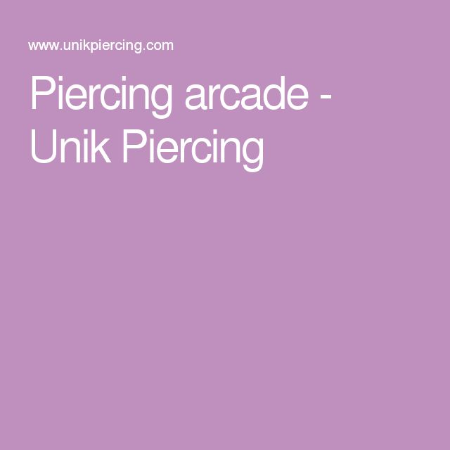 Piercing arcade - Unik Piercing