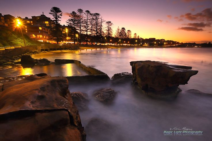 Terrigal Rock Pool Sunset APR - The last glow of the sunset at Terrigal Rockpool on Sunday night.