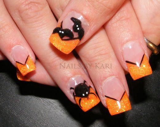 spider nail design for HalloweenFashion Style, Bats, Nail Designs, Halloween Nails Art, Art Design, Halloween Nails Design, Nails Ideas, Halloween Nail Art, Art Nails