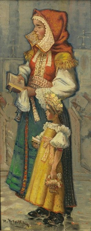"zjawiska: ""Martin Benka: Slovakian folk clothing """