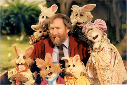Jim with Bean, Lugsy, and the other bunnies from The Tale of the Bunny Picnic.