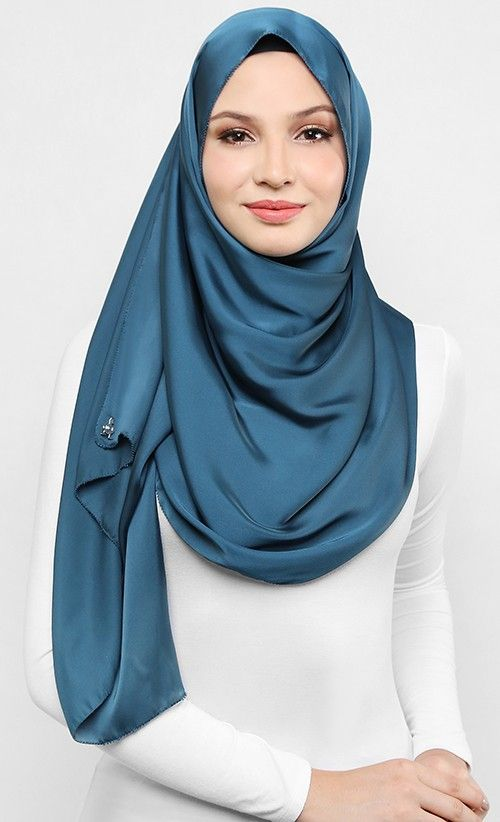 Hammam Blue Satin Silk