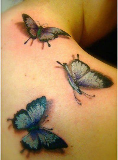 3d butterfly tattoo art