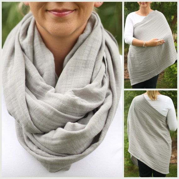 I've been looking for muslin nursing scarves forever!!!!  www.holdmeclose.net  100% Cotton Muslin Gauze Slate Gray Hold Me by HoldMeCloseNursing