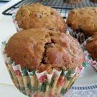 Photo de recette : Muffins aux fruits et aux noix, sans sucre ajouté