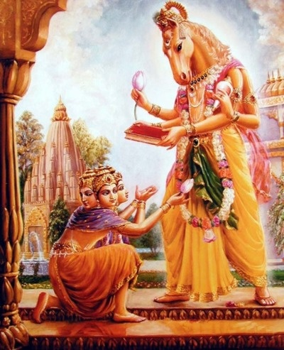 after that the demon madhu stole the vedas to brahma, hayagriva killed madhu and gave them back to brahma.