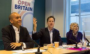 Chuka Umunna, Nick Clegg and Anna Soubry at the Open Britain press conference in London https://en.wikipedia.org/wiki/European_Union