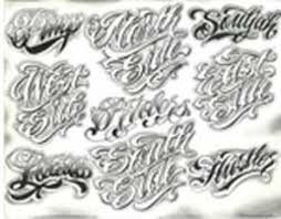 Image result for gangster letter tattoo