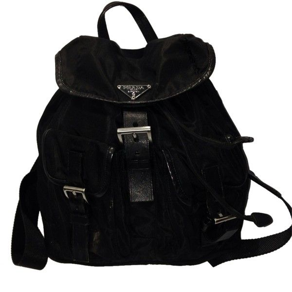 Pre-owned Black Nylon Prada Backpack found on Polyvore | Top ...