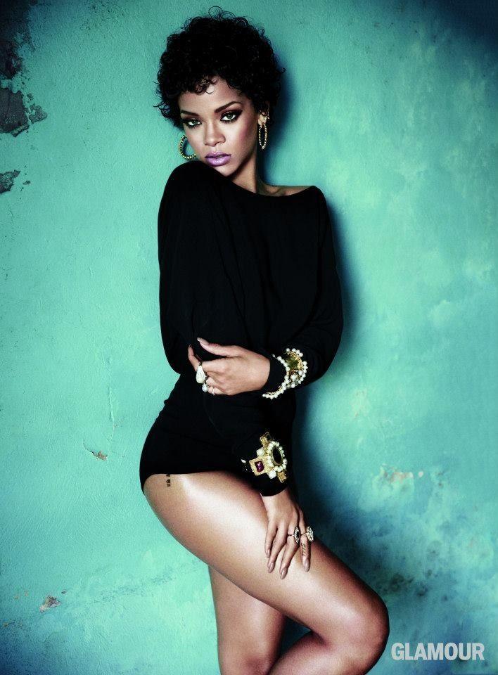 Rihanna photo shoot for Glamour Magazine