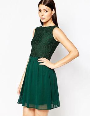 Club L Lace Overlay Dress