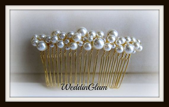 Bridal hair Comb Mother of the bride gift  Wedding by WeddinGlam, $26.00