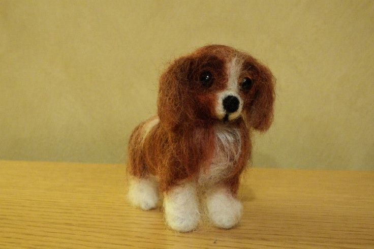 #Needle Felting; #Cavalier King Charles Spaniel; #dogs; #craft