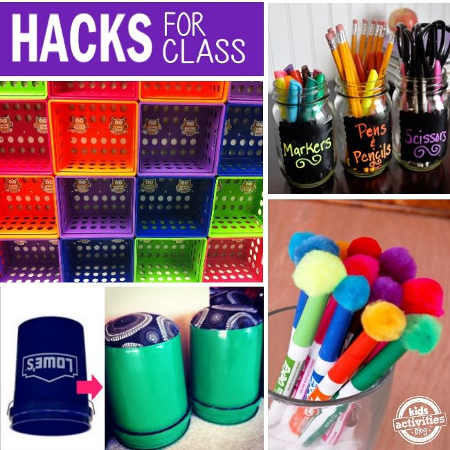 All kinds of great tips and hacks for not only classrooms, but kid's supplies too!