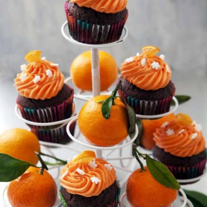 Cupcakes med choklad & clementin