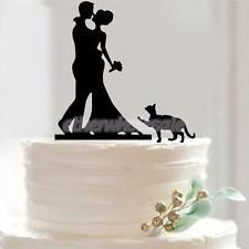 Mariée et Marié Figure Gâteau de Mariage Toppers Peint à Main Décor Gâteau