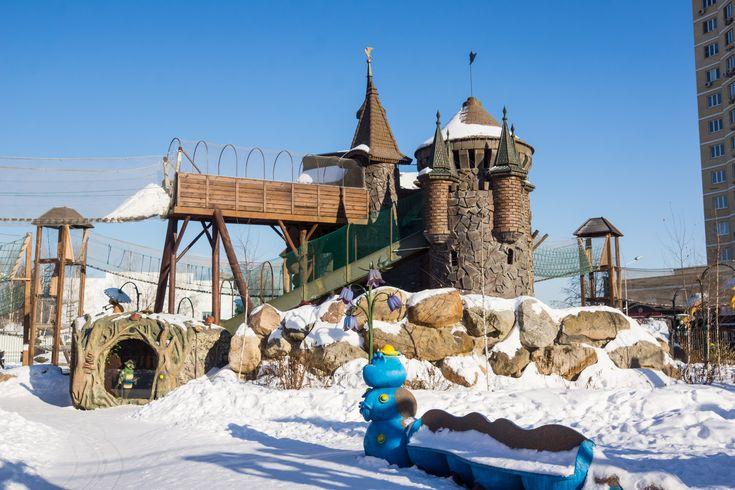 Парк Лукоморье в совхозе им. Ленина – фото хорошего качества в высоком разрешении. Фотографии рака Сказок - зима 2017 год.