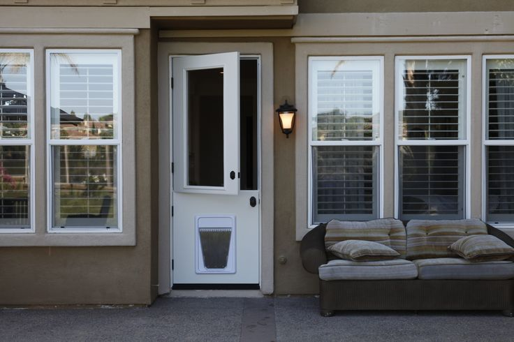 8 Foot Tall Dutch Door With A Pet Door Www Eeedoors Com