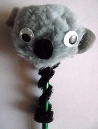 Koala pencil topper - so fun to use while learning about Australia!