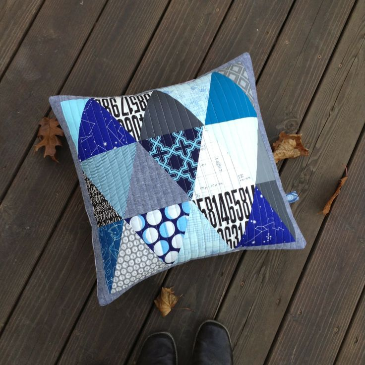 quilted pillow covers with fat quarters