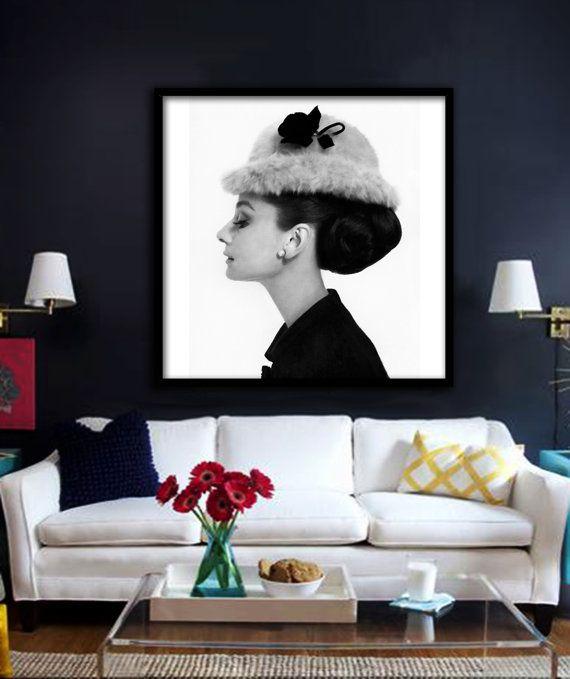 Audrey Hepburn Poster druckbare Datei - Avl in Square & Rechteck, Mode, Kunst, Mode-Ikone, Wand Poster, Frühstück bei Tiffanys, Pop-Art