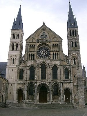 The Abbey of Saint-Remi in Reims, France. Champagne Region