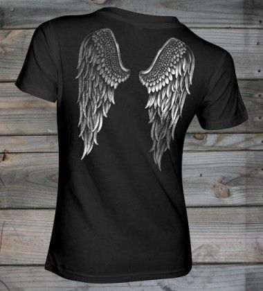 Country Girl ® Angel Wings Fashion Fit Short Sleeve Tee