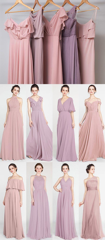 Lavender and dusty rose color combo bridesmaid dresses for 2019  wedding   weddinginspiration  bridesmaids  bridesmaiddress  bridalparty  maidofhonor  ... 741821757cea
